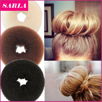 1PC Plate Hair Donut Bun Maker Magic Foam Sponge Hair Styling Tools Princess Hairstyle Hair Accessories Elacstic Hair Bands
