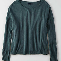 AEO Lightweight Boxy Sweater , Teal