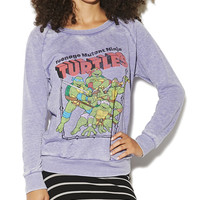 Ninja Turtles Zipper Sweater | Shop Just Arrived at Wet Seal