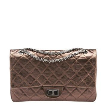 Chanel Reissue 2.55 Flap Bronze Quilted Leather Shoulder Bag