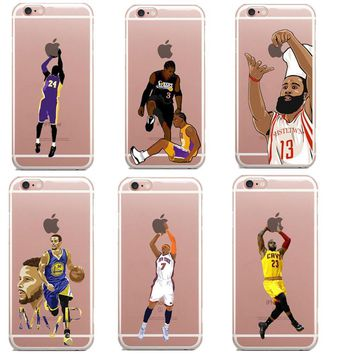 NBA star basketball player phone case for iphone SE 5s 6 6s 7 plus Jordan 23 james har