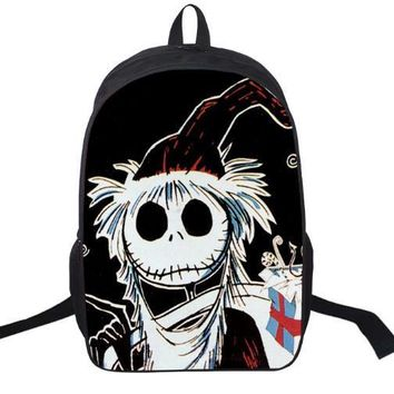 16 Inch The Nightmare Before Christmas Backpack For Teenagers Boys Girls School Bags Women Men Travel Bag Children Backpacks