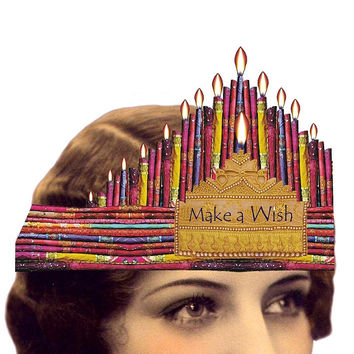 Heart the Moment Greeting Card - Make a Wish with Birthday Candles Tiara
