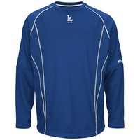 Majestic Los Angeles Dodgers On-Field Practice Therma Base Fleece Pullover