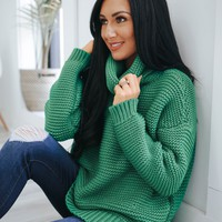 Fond of You Sweater - Kelly Green