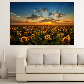 Large Wall Art Sunflower Canvas Print, Large Wall Art Sunflower Print, Large Canvas Print, Wall Art