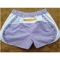 Dixie Dukes Seersucker Shorts Purple and Gold