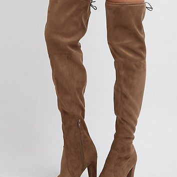 Tie-Back Over-The-Knee Boots | Charlotte Russe