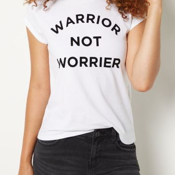 Warrior Not Worrier Tee | Graphic Tees | rue21