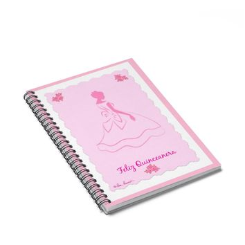QUINCEANERA Notebook Gift: Spiral Bound, 120 Pages from PonsArt $20.00