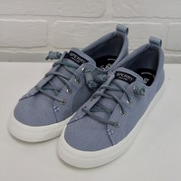 Blue Linen Sperry Crest Vibe