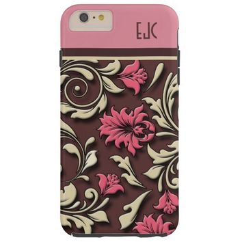 Classic Pink Floral Damask iPhone 6 Case