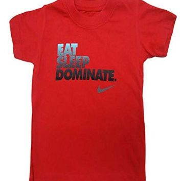 ESBON Nike Toddler Boys Cool Jersey T-Shirt Top (3-6 Months, Red)
