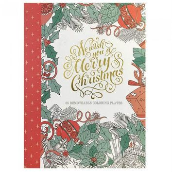 We Wish You a Merry Christmas Adult Coloring Book
