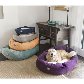 Majestic Pet Villa Collection Faux Velvet/Sherpa Bagel Pet Bed | Overstock.com Shopping - The Best Deals on Other Pet Beds