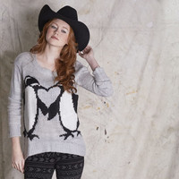 Mason & Belle - Kissing Penguin Sweater