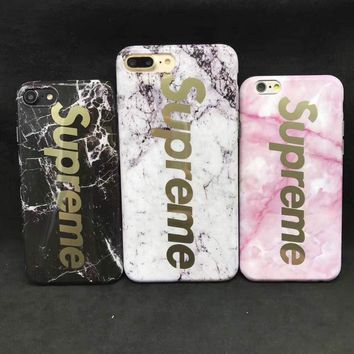 Supreme Ape gold Marble New 2017 TPU hype Case Cover for iphone 7
