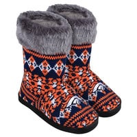 Denver Broncos  Official NFL Aztec Flannel Women's Knit Boots