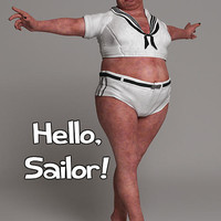 Hello Sailor Digital Art by Liam Liberty - Hello Sailor Fine Art Prints and Posters for Sale
