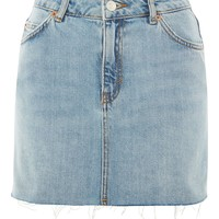 PETITE High Waisted Denim Skirt