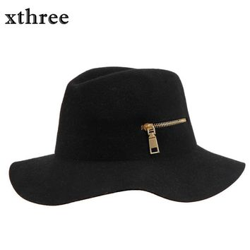 Fashion Wool Vintage Women Ladies Floppy Stetson men's caps wide brim Europe style bowler women Panama Jazz jewish hat Fedoras