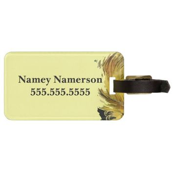 Classy Feather Dame Luggage Tag