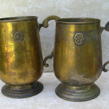 Vintage Metal Tankards - Metal Mugs