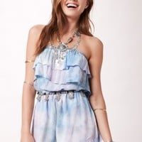 DOUBLE UP RUFFLE ROMPER