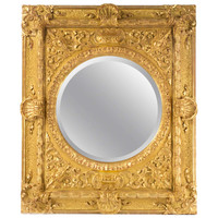 A Carved And Gilt Italian Baroque Mirror