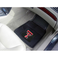"Fan Mats Texas Tech Heavy Duty 2 Piece Vinyl Car Mats 18""X27"""
