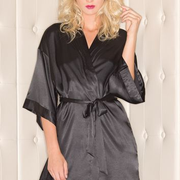 BW1525 Satin Robe - Be Wicked