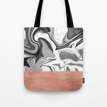 Marbled Sky Tote Bag by printapix