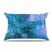 "Ebi Emporium ""The Reef"" Blue Teal Pillow Case"