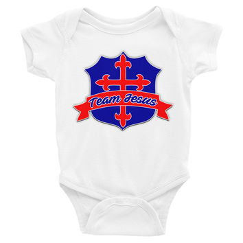 Infant Team Jesus Short Sleeve Onesuit