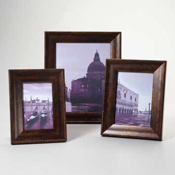 Walnut and Gold Sorrento Frames - World Market