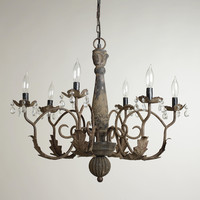 Aged Black Crystal Chandelier - World Market