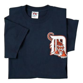 Detroit Tigers (ADULT SMALL) 100% Cotton Crewneck MLB Officially Licensed Majestic Maj
