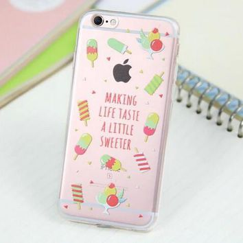 Cute Ice Case for iPhone 5s 5se 6 6s Plus Gift 318-170928