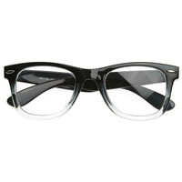 Two Tone Classic Clear Lens Horn Rimmed Glasses RX'able Frame