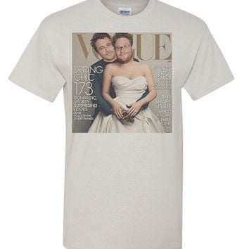 Seth Rogen James Franco Kanye Kim Funny Parody Spoof Gift Vogue Cover T Shirt