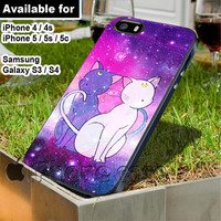 Sailor Moon Luna & Artemis cat Galaxy for iPhone 4 / 4s / 5 / 5s / 5c case, Samsung Galaxy S3 / S4 case
