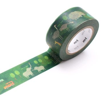 mt EX Washi Tape Single Safari Park - Omoi Zakka Shop