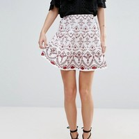 ASOS Mini Skirt with Broderie Detail at asos.com