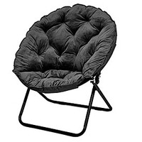 Black Oversized Saucer Chair