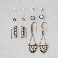 AEO Ear Climber & Dangles 6-Pack Earrings, Gold
