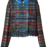 Marco De Vincenzo embellished checkered blouse