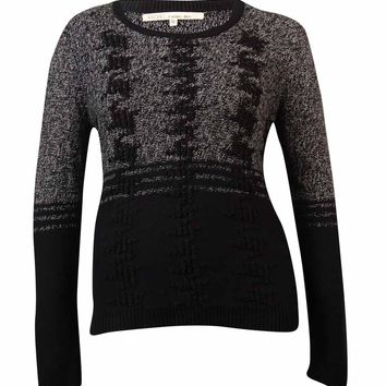 RACHEL Rachel Roy Women's Long-sleeve Houndstooth Sweater