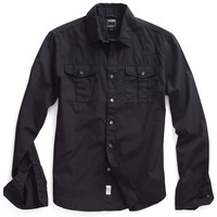 Dante Military Shirt in Faded Black