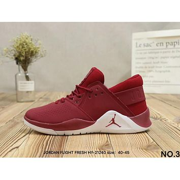 NIKE Air JORDAN FLIGHT FRESH Tide Brand Fashion Training Basketball Shoes F-A36H-MY NO.3