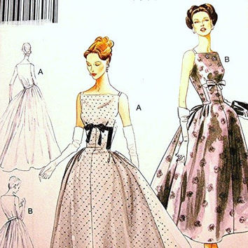 Retro Vogue 1950's Dress Pattern Dessin Original Model Misses Wedding Dress Pattern Bridal Gown or Formal Dress size 14 16 18 20 22 UNCUT